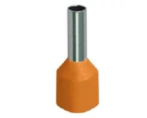 Iek UGN10-D05-02-08 Наконечник-гильза Е0508 0,5мм2 с изолированным фланцем (оранжевый) (100 шт)