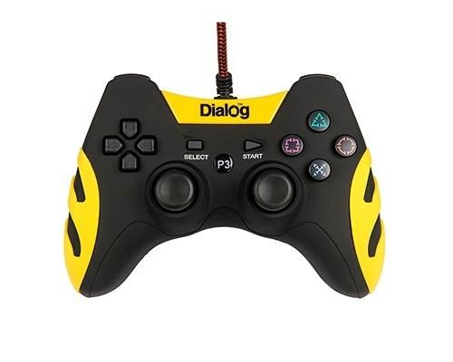 Dialog Gan-Kata GP-A21, черный , вибрация, 12 кнопок, PC USB/PS3, черный