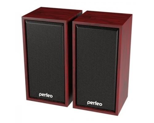 Perfeo колонки CABINET 2.0, мощность 2х3 Вт (RMS), махагон, USB
