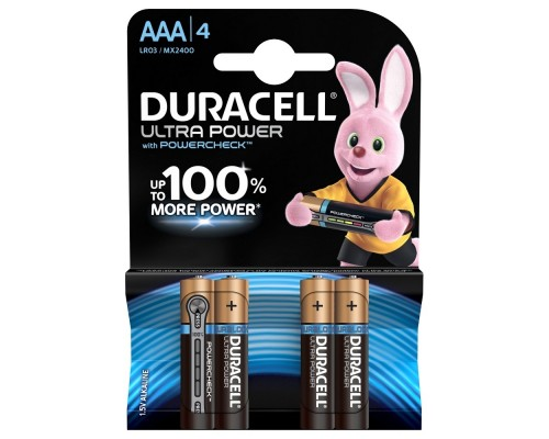 DURACELL LR03-4BL Ultra Power (4 шт. в уп-ке)
