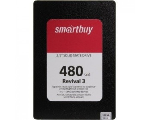 Smartbuy SSD 480Gb Revival 3 SB480GB-RVVL3-25SAT3 SATA3.0, 7mm