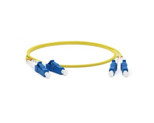 Hyperline FC-D2-9-LC/UR-LC/UR-H-10M-LSZH-YL волоконно-оптический (шнур) SM 9/125 (OS2), LC/UPC-LC/UPC, 2.0 мм, duplex, LSZH, 10 м