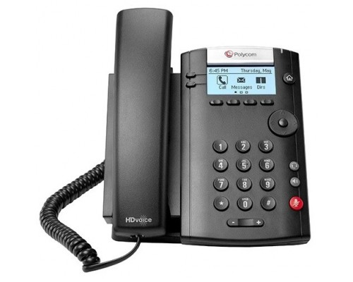 Polycom 2200-40450-114 VVX 201 2-line Desktop Phone with factory disabled media encryption for Russia. PoE. Ships without power supply