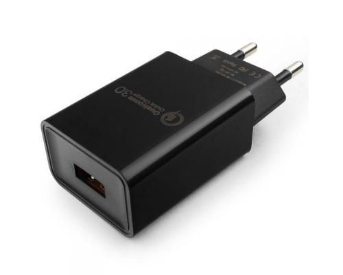Cablexpert Адаптер питания, Qualcomm QC 3.0, 100/220V - 1 USB порт 5/9/12V, черный (MP3A-PC-17)