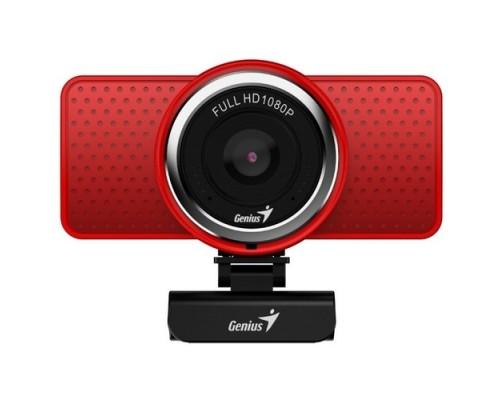 Genius ECam 8000 Red 1080p Full HD, вращается на 360°, универсальное крепление, микрофон, USB 32200001401