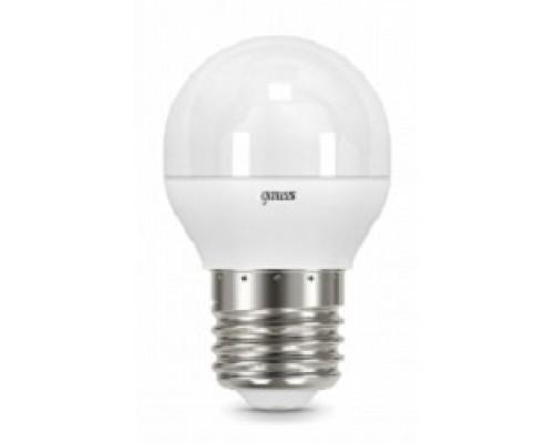 GAUSS 105102207 Светодиодная лампа LED Шар E27 6.5W 550lm 4100K 1/10/100
