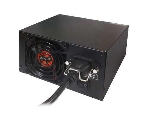 Exegate EX222115RUS-S Блок питания 1000PPX RTL, ATX, SC, black, activePFC, 14cm, 24p+2*(4+4)p, PCI-E, 5*SATA, 4*IDE, FDD + кабель 220V с защитой от выдергивания