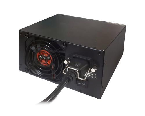 Exegate EX258920RUS-S Блок питания 1200PPX RTL, ATX, SC, black, active PFC, 14cm, 24p+2*(4+4)p,PCI-E, 5*SATA, 4*IDE, FDD + кабель 220V с защитой от выдергивания
