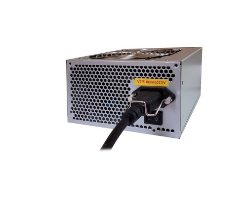 Exegate EX244555RUS-S Блок питания UN500, ATX, SC,12cm fan, 24p+4p, 6/8p PCI-E, 3*SATA, 2*IDE, FDD + кабель 220V с защитой от выдергивания