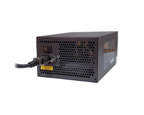 Exegate EX221643RUS-S Блок питания 600NPX, ATX, SC, black, 12cm fan, 24p+4p, 6/8p PCI-E, 3*SATA, 2*IDE, FDD + кабель 220V с защитой от выдергивания