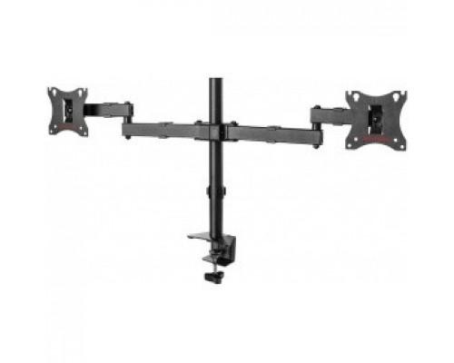 Arm Media LCD-T04 черный 15-28 макс.14кг настольный поворот и наклон верт.перемещ.