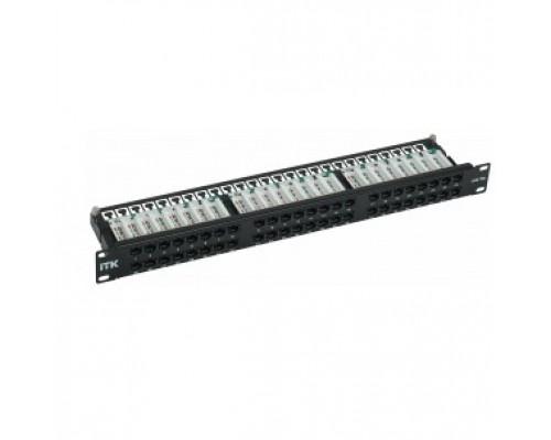 ITK PP48-1UC5EU-D05H ITK 1Uпатч-панель кат. 5eUTP 48пт. Dual IDCвыс. плотн.