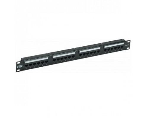 ITK PP24-1UC5EU-D05L 1U патч-панель кат. 5е UTP 24 пт. Dual IDC слайд лейбл