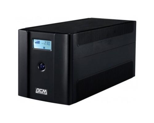 UPS PowerCom RPT-2000AP LCD Line-Interactive, 2000VA/1200W, Tower, 4xSchuko, LCD, USB 1107537