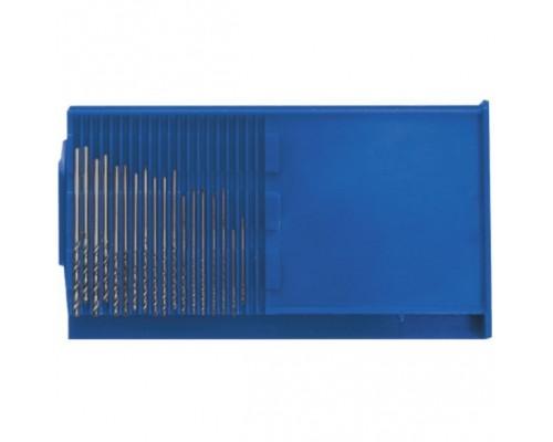 FIT IT Сверла по металлу HSS полированные микро набор 20 шт. (0,3-1,6 мм) 36360