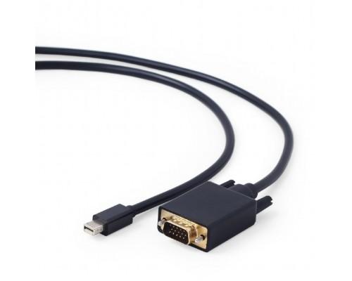 Кабель Cablexpert mDP-VGA, 20M/15M, 1.8м, черный, позол.разъемы, пакет