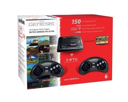 SEGA Retro Genesis HD Ultra + 150 игр (2 беспроводных 2.4ГГц джойстика, HDMI кабель) ConSkDn70