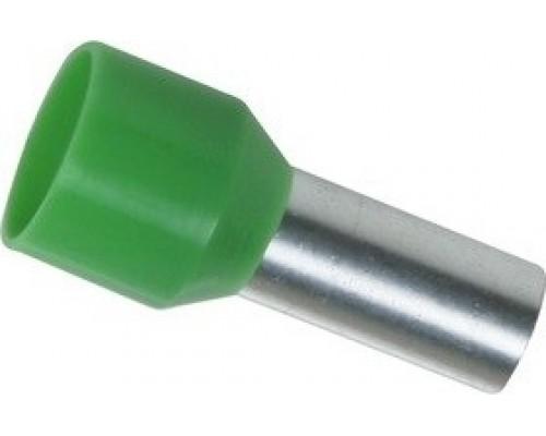 Iek UGN10-016-08-12 Наконечник-гильза Е16-12 16мм2 с изолированным фланцем (зеленый) (100 шт)