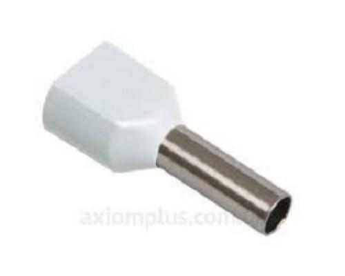 Iek UTE10-D2-1-100 Наконечник-гильза НГИ2 0,75-10 с изолированным фланцем (белый) (100 шт)