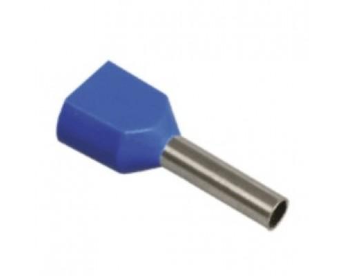 Iek UTE10-D3-3-100 Наконечник-гильза НГИ2 2,5-12 с изолированным фланцем (синий) (100 шт)