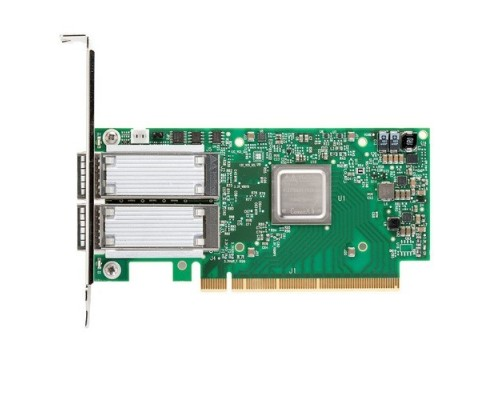 Mellanox MCX516A-CCAT ConnectX®-5 EN network interface card, 100GbE dual-port QSFP28, PCIe3.0 x16, tall bracket, ROHS R6