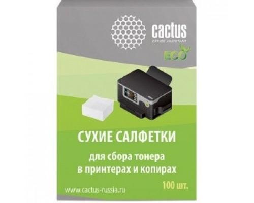 Чистящие средства  CACTUS Салфетки CS-P2003E для сбора тонера 100шт сухих