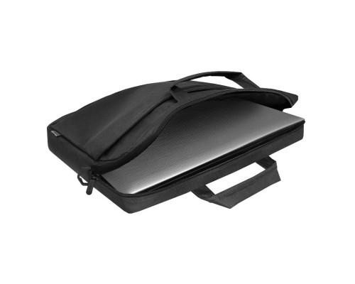 Сумка для ноутбука Defender Monte 17 черный, органайзер (26065)