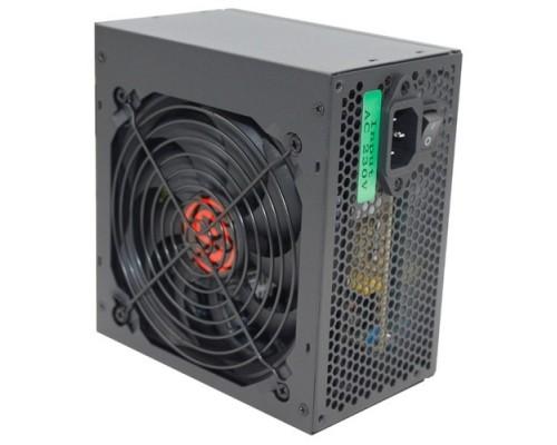 Блок питания Ginzzu CB500 12CM black,24+4p,PCI-E, 4*SATA, 3*IDE,оплетка MB, кабель