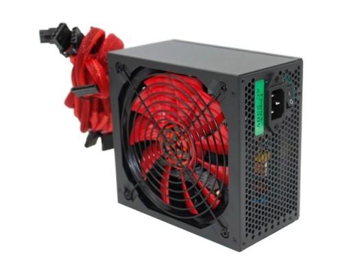 Ginzzu PC600 14CM(Red) 80+ black,APFC,24+4p,2 PCI-E(6+2), 5*SATA, 4*IDE,оплетка, кабель питания,цветная коробка