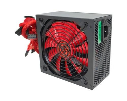 Ginzzu PC700 14CM(Red) 80+ black,APFC,24+4p,2 PCI-E(6+2), 7*SATA, 4*IDE,оплетка, кабель питания,цветная коробка