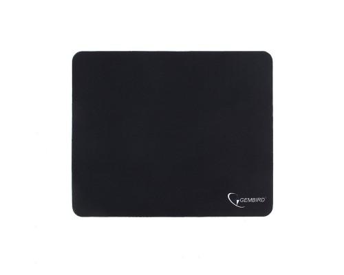 Коврики для мыши Gembird MP-BLACK, чёрный, размеры 220*180*1мм, полиэстер+резина