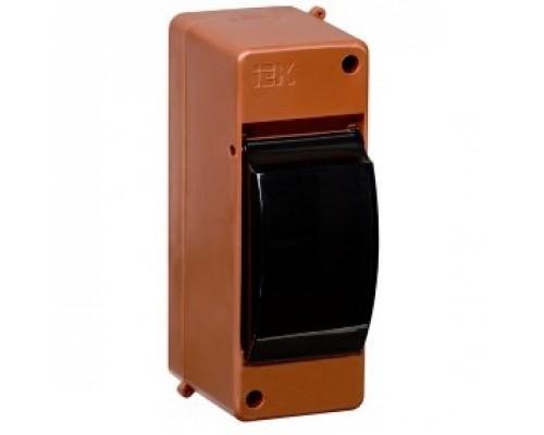 IEK MKP42-N-02-30-20-D Бокс с прозр.крышкой КМПн 2/2 для 2-х авт.выкл. (Дуб)