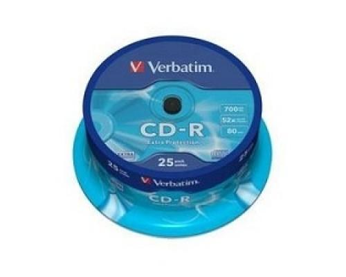 Verbatim и CD-R 25 шт. 52-x 700Mb, Cake Box (43432)