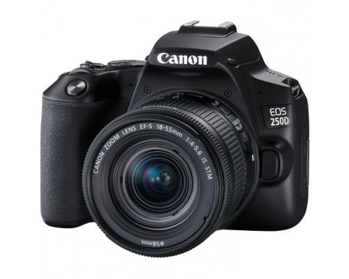 Canon EOS 250D черный 24.1Mpix EF-S 18-55mm f/1:4-5.6 IS STM 3 4K Full HD SDXC Li-ion