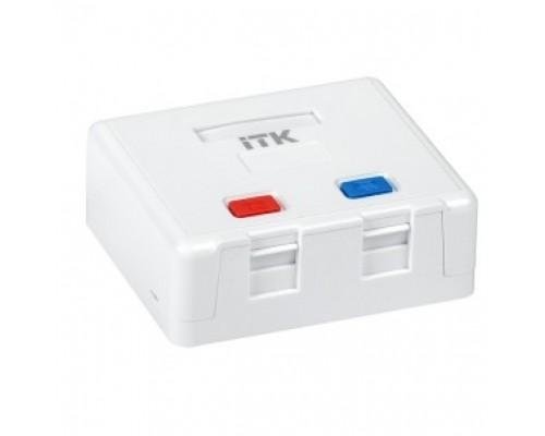 ITK CS2-022 Корпус настенной розетки для 2 мод. Keystone Jack