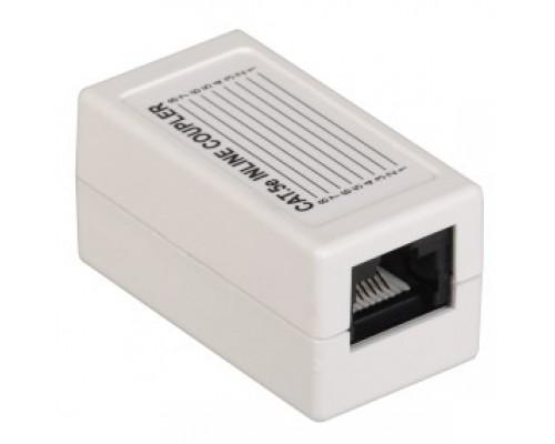 ITK CS70-1C5EU Проходной адаптер кат.5E UTP, тип RJ45-RJ45, белый