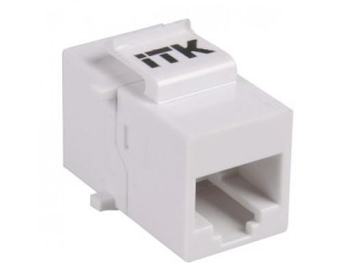 ITK CS7-1C5EU Проходной адаптер кат.5E UTP, RJ45-RJ45, тип Keystone Jack