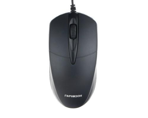 Клавиатуры, мыши Гарнизон Мышь GM-220, USB, чип- Х, черный,1000 DPI, 2кн.+колесо-кнопка