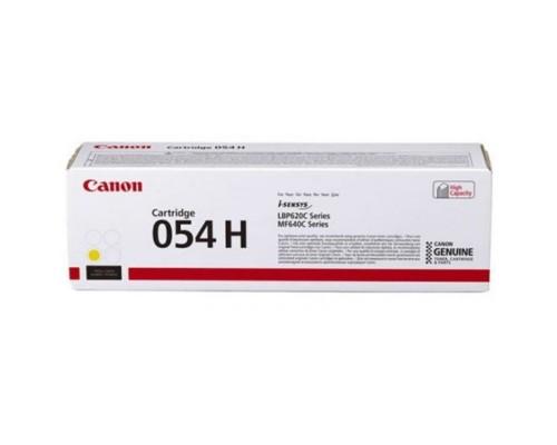 Canon Cartridge 054 HY 3025C002 Тонер-картридж для Canon MF645Cx/MF643Cdw/MF641Cw, LBP621/623 (2300 стр.) жёлтый (GR)