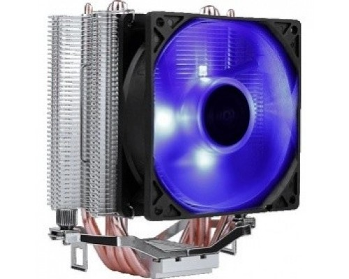 Cooler Aerocool Verkho 4 Lite 125W/ Intel 115*/AMD/ PWM / Blue LED/ Clip