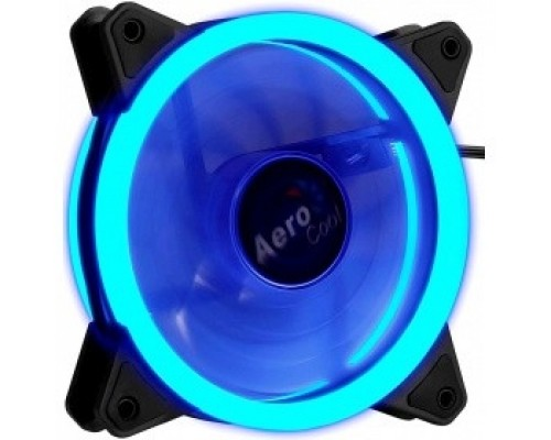 Fan Aerocool Rev Blue / 120mm/ 3pin+4pin/ Blue led