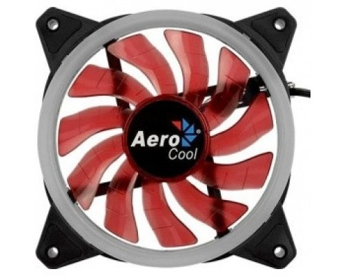 Fan Aerocool Rev Red / 120mm/ 3pin+4pin/ Red led