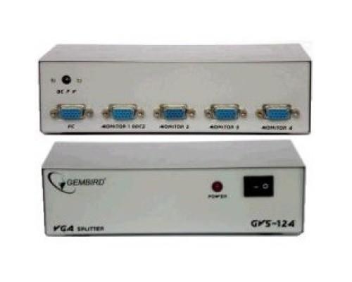 Gembird GVS124 сигнала VGA на 4 монитора (Gembird/Cablexpert)