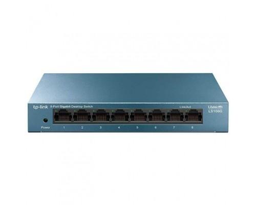 TP-Link LS108G 8-портовый 10/100/1000 Мбит/с настольный коммутатор SMB