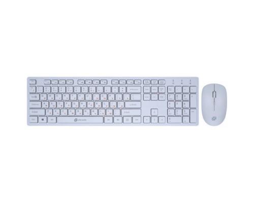 Клавиатура Oklick 240M White USB 1091258 + мышь cordless slim Multimedia
