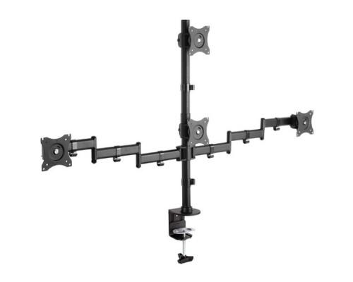 Arm Media LCD-T16 черный 15-32 макс.40кг настольный поворот и наклон верт.перемещ.