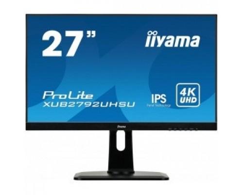 IIYAMA 27 XUB2792UHSU-B1 черный IPS LED 3840x2160 5ms 16:9 300cd 178/178 DVI HDMI DisplayPort USBHub