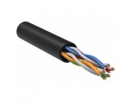 ITK LC3-C5E04-129 Витая пара U/UTP кат.5E 4 x 2 х 24AWG solid LSZH нг(А)-HF черный (305м)