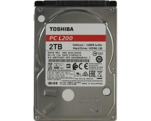 2TB Toshiba L200 (HDWL120UZSVA) Serial ATA III, 5400 rpm, 128Mb buffer, 2.5