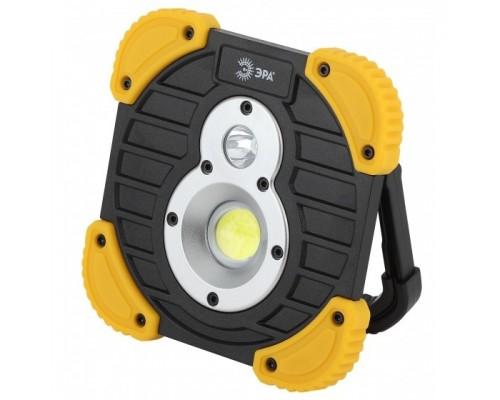 ЭРА Б0036614 Фонарь-прожектор PA-801 Практик 10Вт COB, 3,3 Ач, диммер, IPX6, PowerBank
